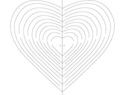 szablon serca