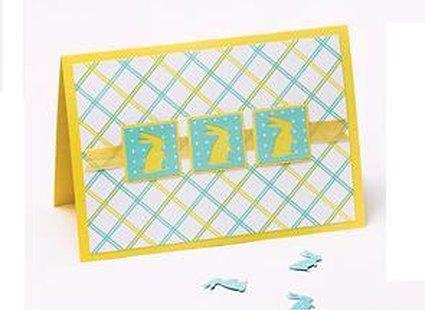 kartka wielkanocna z zajączkami