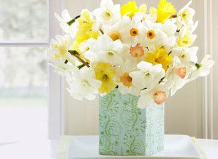 Wielkanocno - wiosenne dekoracje stołu