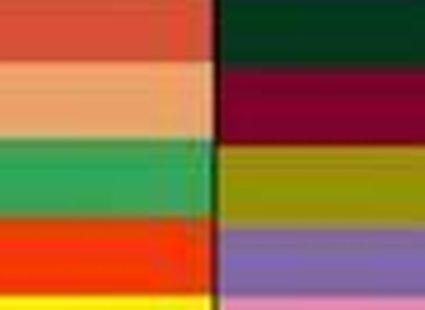 kolory ciepłe (po lewej) i zimne (po prawej)