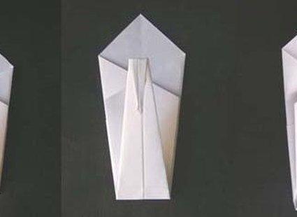 łabędź origami - krok 4.