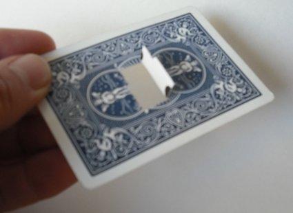 sztuczka z kartami - krok 1.