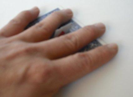 sztuczka z kartami - krok 4.