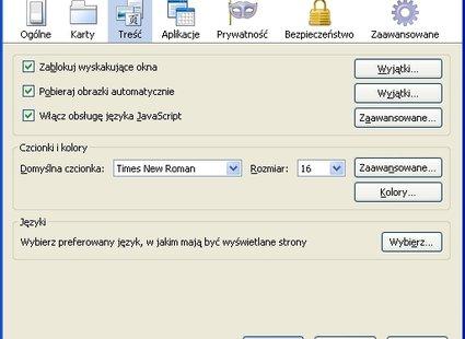 Blokowanie wyskakujących okien w Firefox