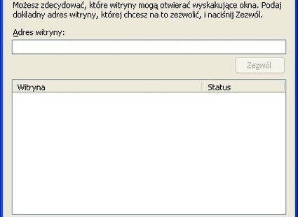 Uprawnione witryny w Firefox