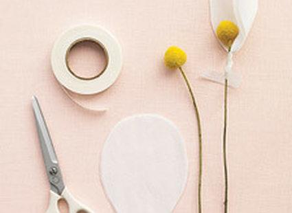 magnolie z papieru - krok 1.