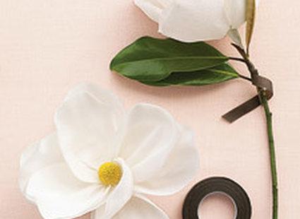 magnolie z papieru - krok 4.