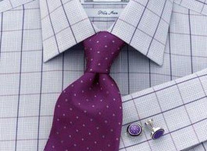 proponowany krawat do koszuli w kratę