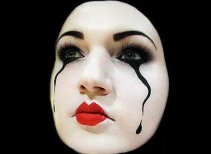 Makijaż mima