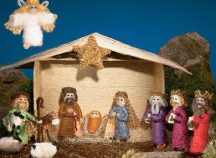 gotowa szopka bożonarodzeniowa