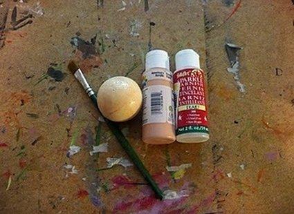 Malowanie styropianowej bombki