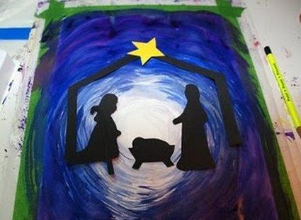 kartka świąteczna z szopką - 6