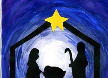 kartka świąteczna z szopką - 7