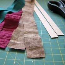 broszka z materiału - krok 1