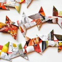 origami z gazetek reklamowych