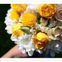 Bukiet ślubny żółty