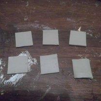 kawałki gliny