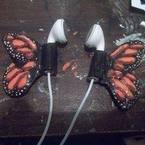 gotowe słuchawki z motylkiem