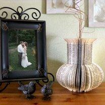 wazon ze starej ksiażki