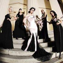 ślub w stylu gotyckim