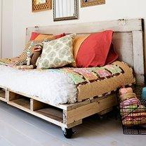 Siedzisko z drewnianej palety