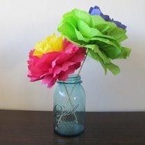 kwiatki z serwetki