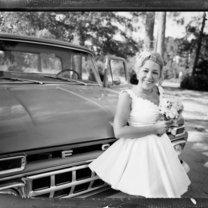Toczek ślubny retro