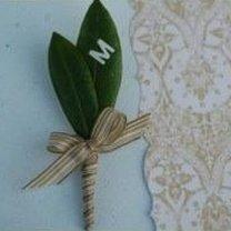 Butonierka z liści