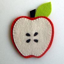 podkładka pod kubek z filcu w kształcie jabłka
