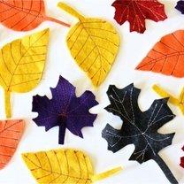 jesienne liście z filcu