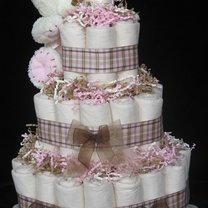przykładowy tort z pieluch