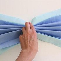 kwiaty z papierowych serwetek - krok 7