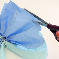 kwiaty z papierowych serwetek - krok 13