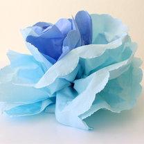 kwiaty z papierowych serwetek - krok 14