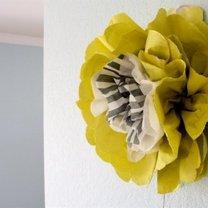 kwiaty z papierowych serwetek