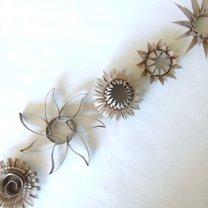 kwiatki z rolki po papierze toaletowym