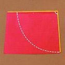 strój czerwonego kapturka - krok 2