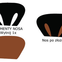 szablon nosa wilka