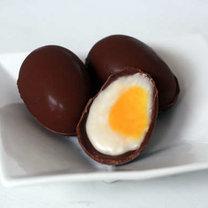 nadziewane czekoladowe jajka