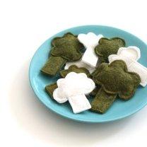 brokuły i kalafior z filcu