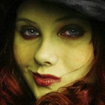 makijaż czarownicy - krok 1