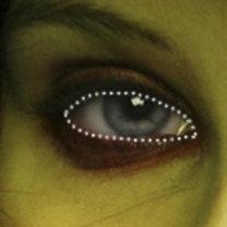 makijaż czarownicy - krok 3