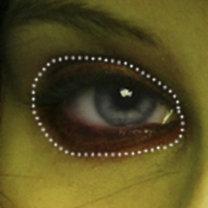 makijaż czarownicy - krok 4