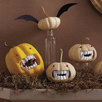 dynie na Halloween - wampiry