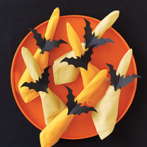 pierścienie  na serwetki na Halloween