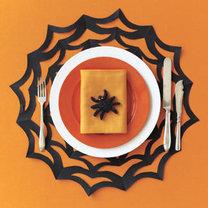 serwetka na Halloween -pajęczyna