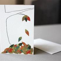 kartka z liśćmi