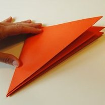 Dynia z papieru na Halloween krok 2