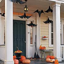Dekoracje na Halloween - wiszące nietoperze