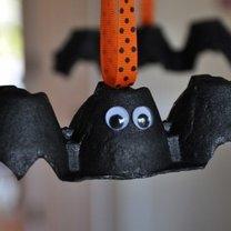 nietoperze z wytłaczanek na Halloween